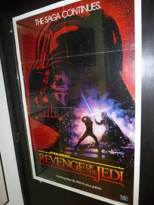 revenge of the jedi poster, star wars movie posters for sale