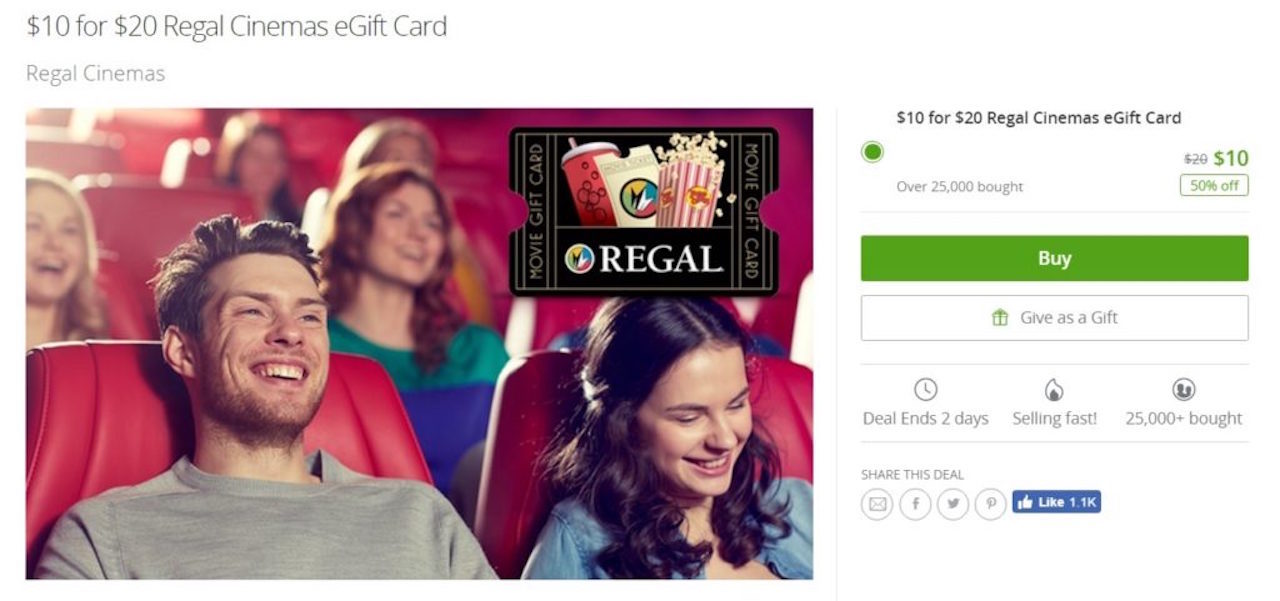 groupon regal, regal groupon