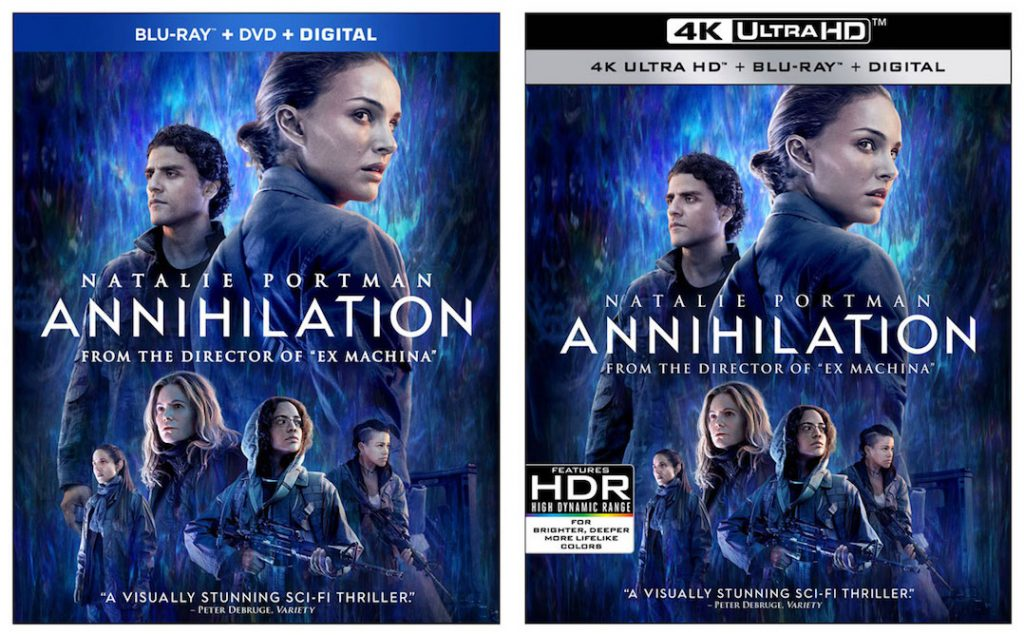 annihilation blu-ray, annihilation 4k