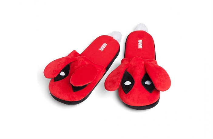 deadpool fuzzy slippers