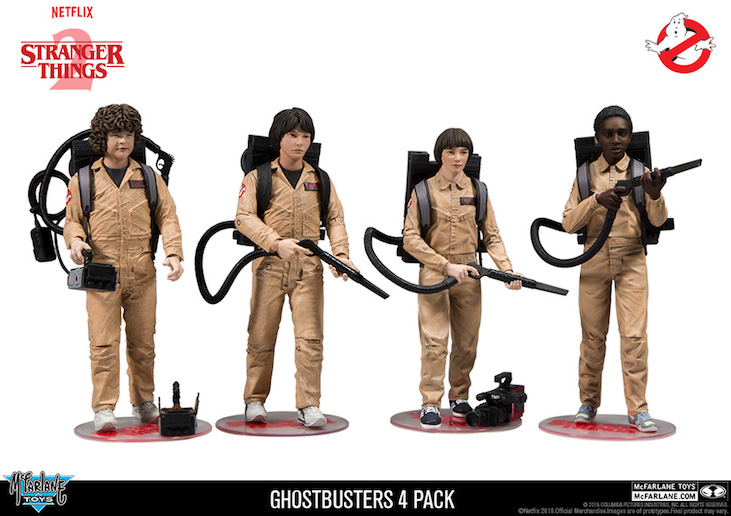 stranger things ghostbusters, stranger things ghostbusters action figures